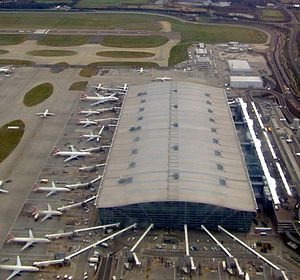 Heathrow Terminal 5 - The main building from the air