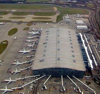 Heathrow Terminal 5 - The main building from the air