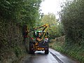 Hedge-trimming in progress, Rudry Rd, Cardiff - geograph.org.uk - 1527075.jpg