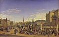 Heinrich Hansen - Udsigt fra Gammel Strand mod Christiansborg - KMS863 - Statens Museum for Kunst.jpg