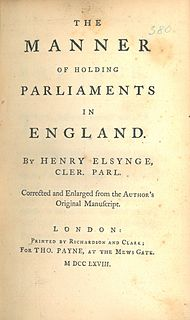 Henry Elsynge (Clerk of the Parliaments) English parliamentary official  (bap. 1577, d. 1635)