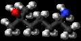 Heptaminol molecule ball.png