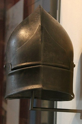 Coventry Sallet - The Sallet seen from the front