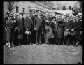 Herbert Hoover and group outside White House, Washington, D.C. LCCN2016889236.tif