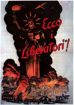 Here are the the liberators-Italian WWII Poster - Statue of Liberty.jpg
