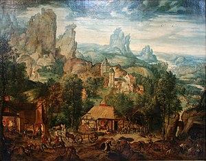 Herri met de Bles - Landscape with a Foundry
