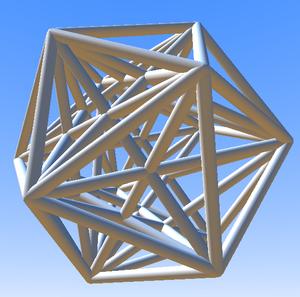 6-orthoplex - Image: Hexacross