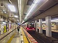 Hibiya line - Akihabara station - platforms train - March 4 2018.jpg