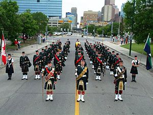 Regimental Pipes and Drums of The Calgary Highlanders - Image: Highlanders 2008parade