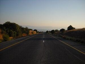 Highway 87 (Israel) - Highway 87, looking westwards