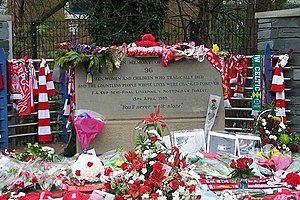 English: Hillsborough Disaster Memorial - 2, H...