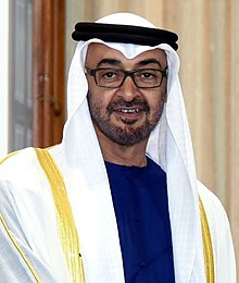 His Highness Sheikh Mohammed Bin Zayed Al Nahyan, at Hyderabad House, in New Delhi on February 11, 2016.jpg