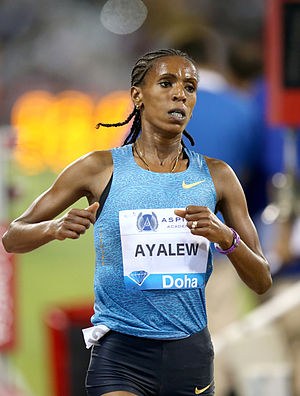 Hiwot Ayalew - Hiwot at the 2015 IAAF Diamond League meeting in Doha