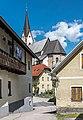 Hohenthurn Goeriach Pfarrkirche Mariae Namen SO-Ansicht vom Dorfzentrum 16052017 8525.jpg