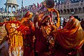 Holi is the festival of colour and its celebrated in a grand way at Mathura. Every year thousands gather to this place to witness the ancient tradition.jpg