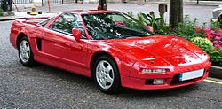 The Honda NSX, badged as an Acura in certain regions.