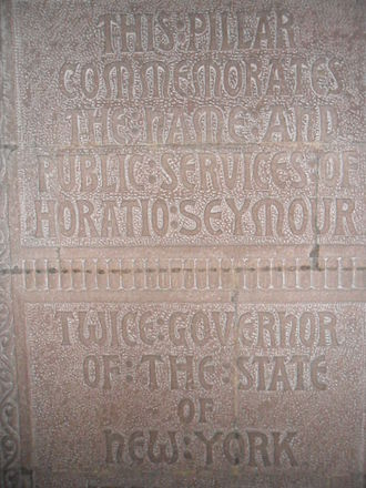 Horatio Seymour - The Horatio Seymour memorial at the Cathedral of All Saints (Albany, New York).