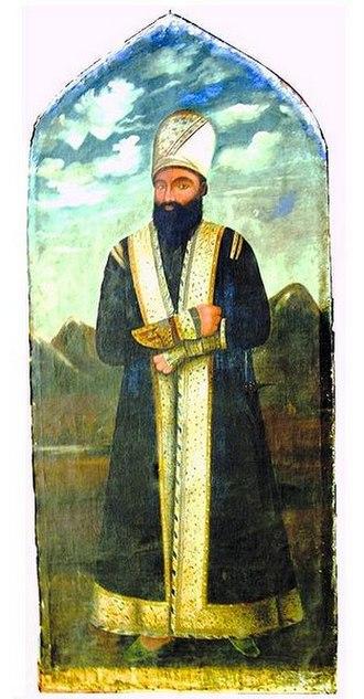 Hossein Khan Sardar - Artwork of Hossein Khan by Azerbaijani artist Mirza Kadym Irevani