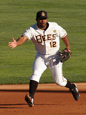 Howie Kendrick - Kendrick playing for the Salt Lake Bees, Triple-A affiliates of the Los Angeles Angels of Anaheim, on June 15, 2009