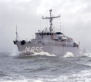 Flag of Scheveningen - The minehunter Hr. Ms. Scheveningen