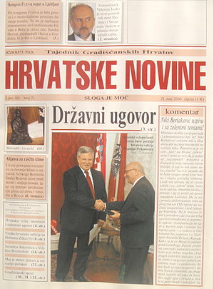 Burgenland Croats - Weekly newspapers Hrvatske novine published in Burgenland