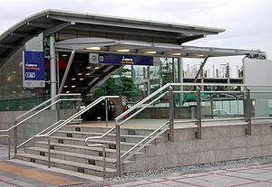 MRT (Bangkok) - The entrance to Huai Khwang MRT Station