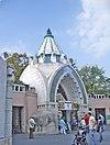 A budapesti állatkert főkapuja