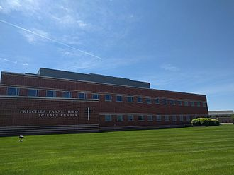DeSales University - The front of the Hurd Science Center at DeSales University.