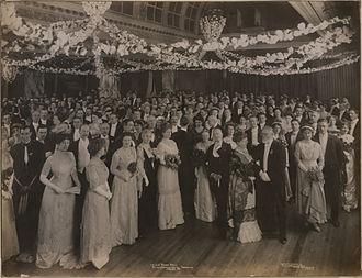 Imperial Order Daughters of the Empire - IODE Rose Ball at the King Edward Hotel, Toronto, on 28 February 1911, photographed by F. W. Micklethwaite.