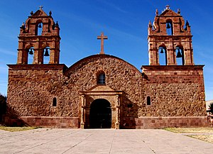Laja, Bolivia - Church of Laja, said to be made of stones from Tiwanaku