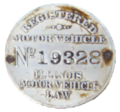 Illinois Registered Motor Vehicle Disc - 1909.png