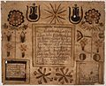 Illustrated family record (Fraktur) found in Revolutionary War Pension and Bounty-Land-Warrant Application File W2085... - NARA - 300142.jpg