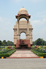 India Gate, a WWI memorial in New Delhi, India.