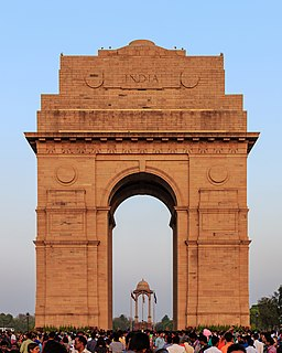 India Gate Triumphal arch in New Delhi