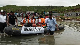 Relief efforts by the Indian Navy in Chennai Indian Navy relief efforts during the 2015 floods in Chennai (04).jpg