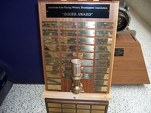 "Leon Sirois - The ""Jigger Award"" trophy"