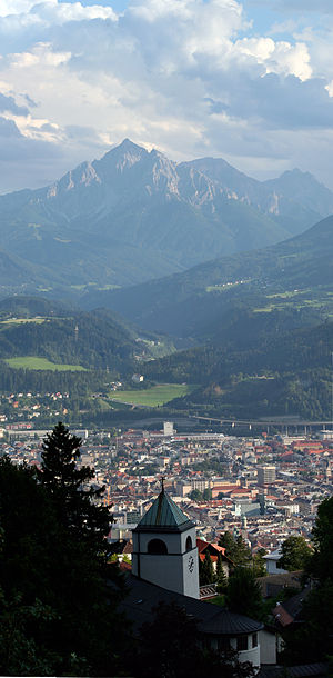 Innsbruck overlook with town