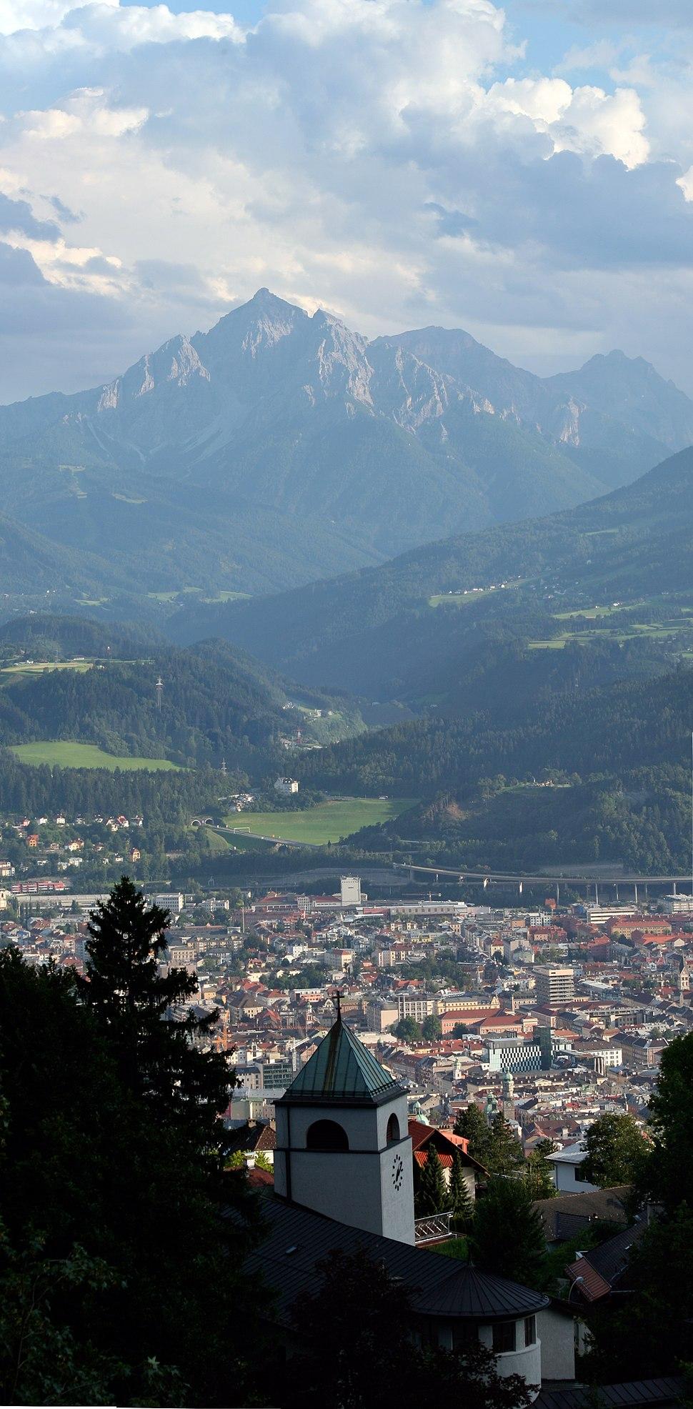 Innsbruck overlook with town