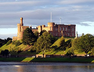 Inverness City in the Scottish Highlands, Scotland, UK