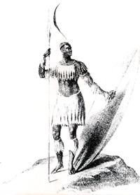 200px isaacs   sjaka, koning van die zulu (1836)