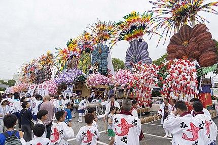 苅田山笠 神事場集合 岩山