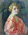 Józefina Kirchner - Portret pani w różowej sukni 1929.jpg