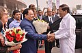 J.P. Nadda welcoming the President of the Democratic Socialist Republic of Sri Lanka.jpg