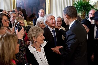 Jewish American Heritage Month - President Obama welcomes Nobel Peace Prize Laureate Elie Wiesel at the May 17, 2011 White House reception in honor of JAHM