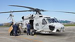 JMSDF SH-60J(8265) right front view at Tokushima Air Base September 30, 2017 03.jpg