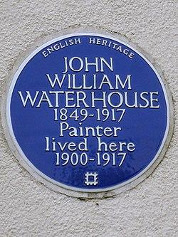 Photo of John William Waterhouse blue plaque