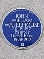 JOHN WILLIAM WATERHOUSE 1849-1917 Painter lived here 1900-1917.jpg