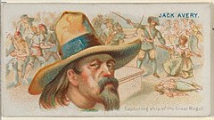 Jack Avery, Capturing Ship of the Great Mogul, from the Pirates of the Spanish Main series (N19) for Allen & Ginter Cigarettes MET DP835024.jpg
