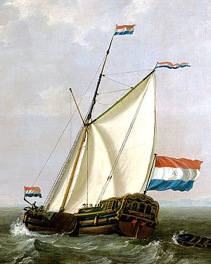 Yacht - An 18th-century Dutch yacht (jacht) owned by the Rotterdam chapter of the Dutch East India Company (VOC).