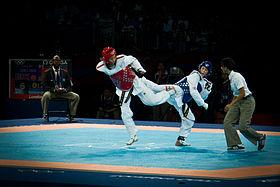 Combat de taekwondo WTF aux Jeux olympiques d'été de 2012 à Londres